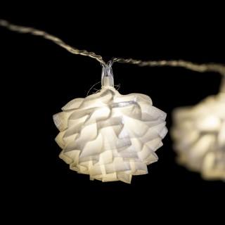 Guirlande lumineuse Noël - L. 135 cm - Boule tulle