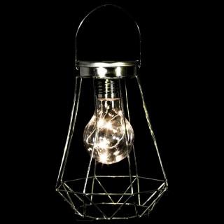 Lanterne de Noël 5 Côtés Chic - 12 x 17 cm - Or