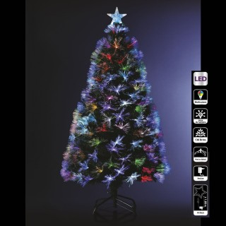 Sapin de Noël artificiel à LED multicolores Bouquet - H. 120 cm - Vert