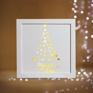 Cadre lumineux de Noël - 22 x 22 - Sapin
