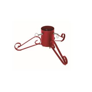 Pied pour sapin de Noël en métal Trépied - Réglable - Rouge