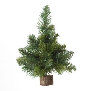 Sapin de Noël déco de table Blooming - 18 x 26 cm - Vert