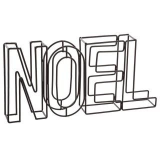 Décoration lettres Noël - 29 x 4 x 15 cm - Noir