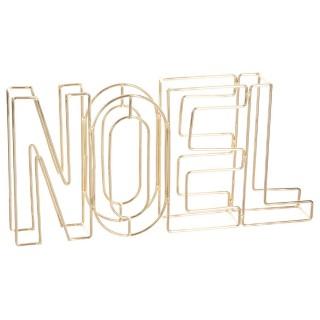Décoration lettres Noël - 29 x 4 x 15 cm - Or