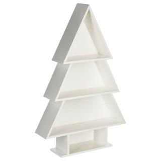 Etagère sapin de Noël - H. 60 cm - Blanc