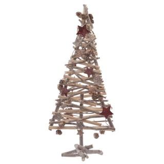 Sapin de Noël avec branches - 23 x 60 cm - Marron