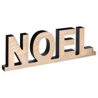 Décoration lettres Noël - 36 x 2,5 x 12 cm - Beige