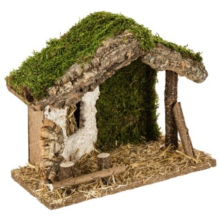 Crèche traditionnelle de Noël à remplir - Petit modèle - 26 x 22 cm