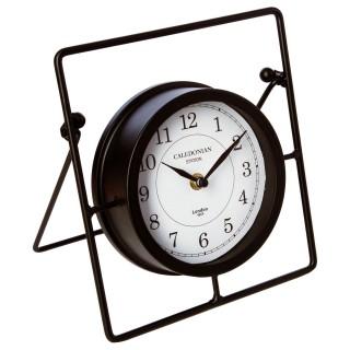 Pendule à poser Rétro - 17 x 21,5 cm - Noir