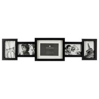 Pêle-mêle 5 Photos Maddy - 79 x 20 cm - Noir