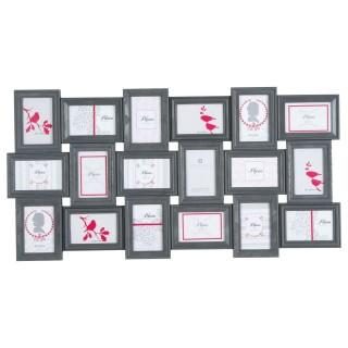 Pêle-mêle 18 Photos Romance - 102 x 53 cm - Gris