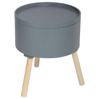 Table à café coffre Oshi - Diam. 38 cm - Gris foncé