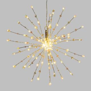 Etoile branches lumineuses à suspendre - Diam. 40 cm - Argent
