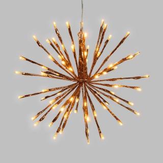 Etoile branches lumineuses à suspendre - Diam. 30 cm - Cuivré