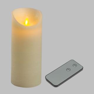 Bougie Rustique LED - 7,5 x 18 cm - Blanc