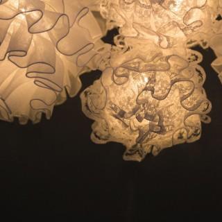 Guirlande lumineuse Fleur Tulle  - L. 135 cm - Blanc