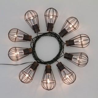 Guirlande lumineuse Cage industrielle - L. 450 cm - Noir