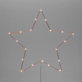 Décoration lumineuse à suspendre Noël - Diam. 35 cm - Etoile