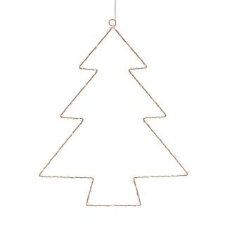 Décoration lumineuse à suspendre Noël - 28 x 35 cm - Sapin