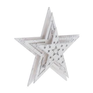 Etoile lumineuse Noël à ventouse - Diam. 16 cm - Blanc