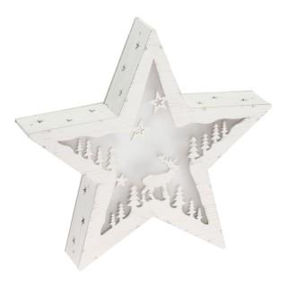 Etoile lumineuse Vintage Noël - Diam. 30 cm - Blanc