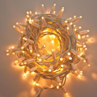 Guirlande lumineuse raccordable Noël Ixia - L. 20 mètres - Blanc chaud