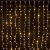 Rideau lumineux raccordable Noël Ixia - 2 x 1,5 mètres - Blanc chaud