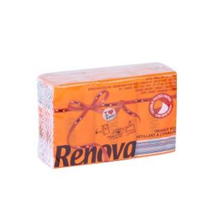 6 Paquets de mouchoirs parfumés - Triple épaisseur - Orange effervescent