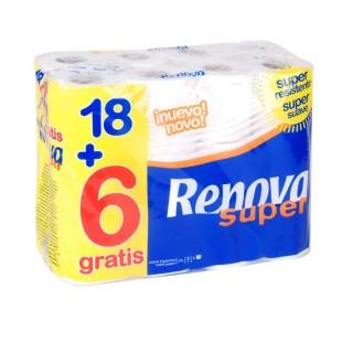 24 Rouleaux de papier hygiénique - Double épaisseur - Blanc