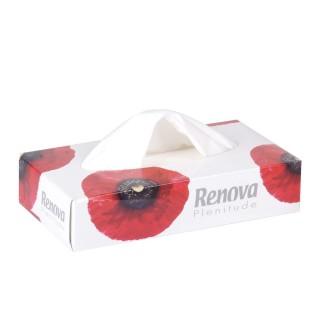 Boîte à mouchoirs Fleurs - 80 Mouchoirs - Blanc