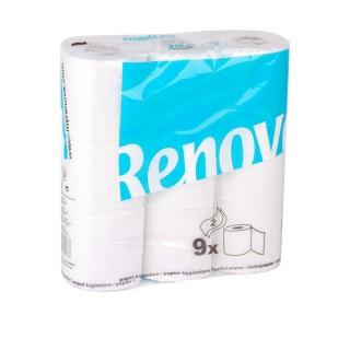 9 Rouleaux de papier hygiénique - Double plis - Blanc