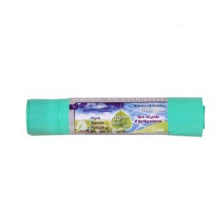 10 Sacs poubelle Ecologiques liens coulissants - 50 L - Vert