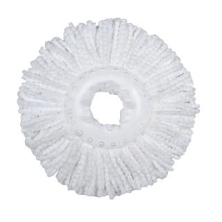 Recharge pour balai Microfibre - Diam. 26 cm - Blanc