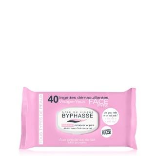 40 Lingettes démaquillantes aux Protéines de lait - Tous types de peaux