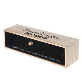 Boîte à café à 5 Compatiments - 24 x 18 cm - Blanc