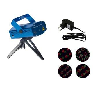 Laser Disco - 20 Effets lumineux multicolore - Bleu