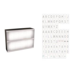 Boîte lumineuse à message A5 - 85 lettres - Blanc