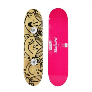 Porte-Manteau Skate Mme & Mrs - 60 x 15 cm - Rose