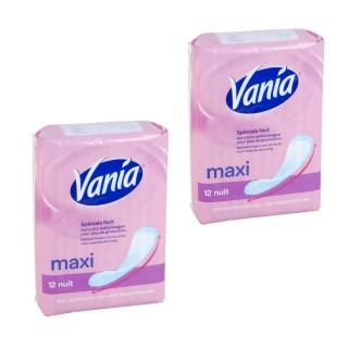 Lot de 2 Paquets de Serviette hygiénique Maxi Nuit - 12 extra longue