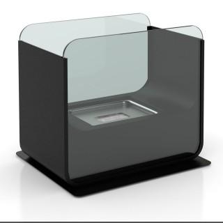 Cheminée de table rectangulaire au Bio-éthanol - 26 x 21 cm