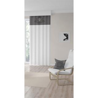 Rideau à œillets Medaillon - 135 x 250 cm - Gris