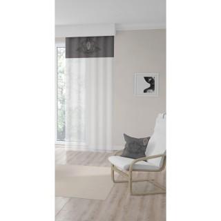 Voile à œillets Medaillon - 135 x 250 cm - Gris