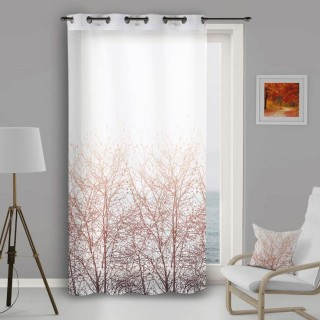 Voile à œillets Forest - 135 x 250 cm - Blanc