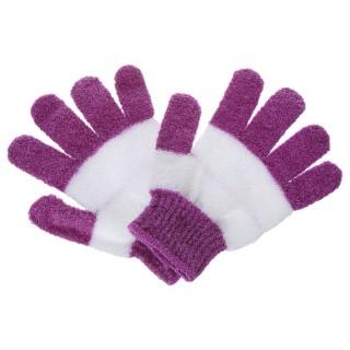 2 Gants de massage exfoliant - Violet