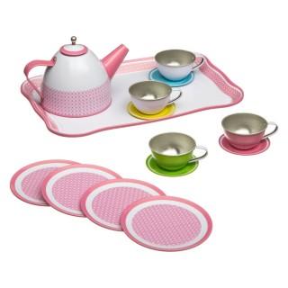 Service à thé enfant - 15 pièces - Rose