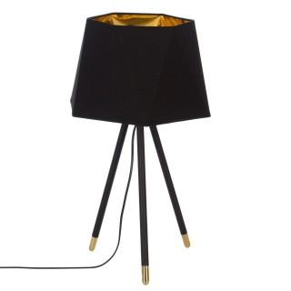 Lampe trépied en fer Dori - H. 54 cm - Noir et or