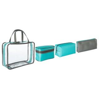 4 Trousses de toilette multi-tailles Travel - Bleu
