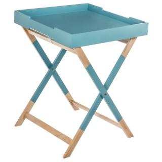 Table d'appoint plateau Hedra - 45 x 59,9 cm - Bleu