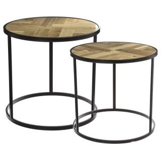 2 Tables à café en bois Mood - 53 x 50 cm