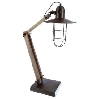 Lampe à poser en bois et fer Grik - H.75 cm